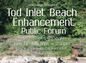 Tod Inlet Beach Enhancement PUBLIC FORUM