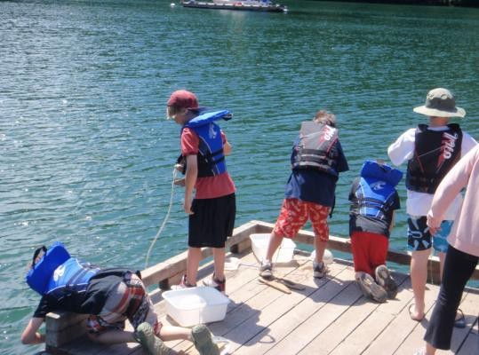 EcoRowing students monitoring water quality in the inlet ...